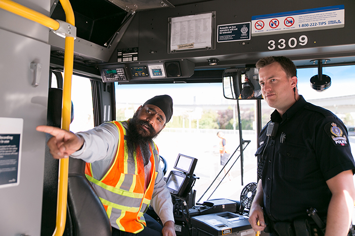 Image of Bus Operator and Officer Walker