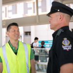 Canada Line Attendant with Transit Police Officer