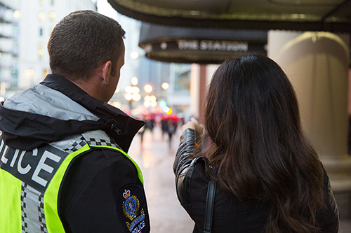 Officers Shillto and Vivian pointing rear