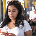 Image of a Woman on her Smart Phone